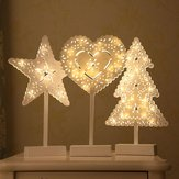 Battery Powered Star Christmas Tree Heart LED Night Light Table Lamp Home Decoration