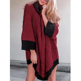 Winter Women High Collar Sweater Dress