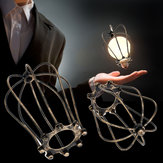 Vintage Iron Wire Bulb Cage Lamp Guard Shade Trouble Lights Industrial Home Light Decor