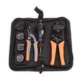 Crimping Tool Kit 5 Changeable Iaws for Insulated and Non-insulated 0.5-35mm