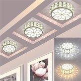9W Modern LED Ceiling Lights Crystal Chandelier Pendant Lamp Porch Hallway Fixture AC220V