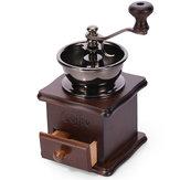 Original Manual Coffee Bean Grinder Retro de madera Diseño Molino de molinillo molinillos Retro