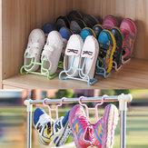 Original 2 Unids / set Multi-función de Plástico Niños Zapatos de Los Niños Colgando Almacenamiento Estante de Secado Rack Estante Del Zapato de Pie Percha Armario Organizador