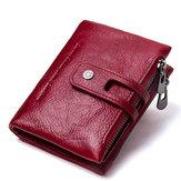 FemmesVintageencuirvéritableporte-cartes porte-monnaie sac