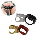 AOTU 24mm Outdoor EDC Mini Finger Ring Beer Opener Stainless Steel Bottle Can Opener Ring Tool Kit