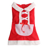 Pet Chiot Chien Chat Noël Santa Claus Robe Vêtements Costume Manteau Vêtements Manteaux