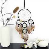Plumas naturales tejidas a mano Dreamcatcher Regalos originales de la pastoral americana Ornamento colgante de la decoración