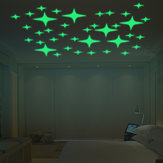 Honana DX-168 22PCS Fluorescent Glow Blinking Stars Wall Sticker Home Bedroom Decor