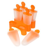 Original Naranja DIY Congelado Ice Cream Pop Maker Molde Lolly Popsicle Mold Palo Holder Kitchen 6 Cavity