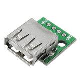 5pcs USB 2.0 Female Head Socket To DIP 2.54mm Pin 4P Adapter Board