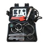 Equipo de emergencia SOS herramienta Kit de primeros auxilios Caja al aire libre Equipo de supervivencia para suministros