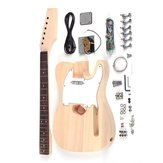 DIY Electric Guitar Accessories Kit Beech Wood Body Maple Neck