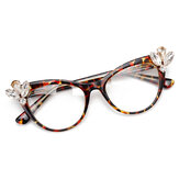 Original Cat Eye Frame Computer Optical Glasses with Rhinestone