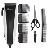 SURKER Men Electric Hair Clipper Trimmer Child Household Barber Hair Cutting Scissors Comb Brush