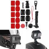Original Adhesive Helmet Front Chin Mount Holder Kit para Sjcam / Antshares / Gopro Hero 6 5 4 Moto