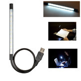 Flexible USB Black Metal Shell Bright 10 LED Light for Computer Keyboard Reading Notebook