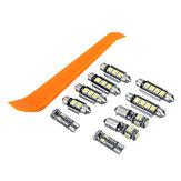 Original 10Pcs Coche LED Kits de bombilla de luz para VW MK4 Golf GTI Jetta 1999-2005