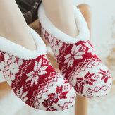 Femmes Filles Hiver Plus Chaussettes Velours Jacquard Anti-Slip Yoga