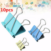 10Pcs Assorted Colour Foldback Clips Grip Clamps Filing Letter