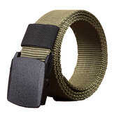 140cm Men Women Canvas Adjustable Quick Release Tactical Belt PE Buckle 3.8cm Width Waistband