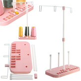 Pink Three Spool Thread Stand Holder Household Sewing Machine Accessories