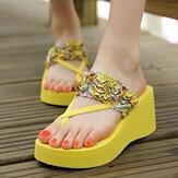 New Summer Women Wedge Platform Sandal Flip-Flops Shoes Beach Slippers Shoes