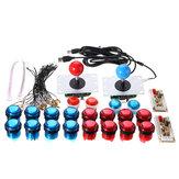 Boutons poussoirs à deux joueurs Joysticks USB Encoder Arcade Mame DIY Kit Set Parts