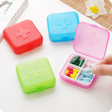 Quartet Mini Dug Kit Portable 4 Grids Small Medicine Box to Remind Drug Storage Boxes Pill Case