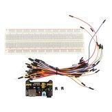 Geekcreit® MB-102 MB102 Tablero sin Soldaduras + Fuente de Alimentación + Conjunto de Cable de Puente para Arduino