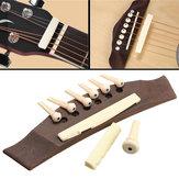 Original 1 juego de guitarra profesional Kit de guitarra acústica Puente con clavijas de hueso Tuerca de silla de montar