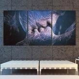 3pcsamourbaisertoileimpressionabstraite peintures photos chambre décor sans cadre