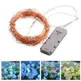Battery Powered 10M 100LEDs Waterproof Copper Wire String Light For Wedding Party Decor