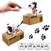 Cute Stealing Dog Mini Model Piggy Bank Money Save Pot Coin Electricity Storage Box Creative Gift