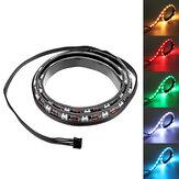Coolman 50cm Magnétique RGB LED Bande de Lumière avec 30pcs LED pour Coque d'Ordinateur de Bureau PC