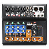 Portable 8 Channel Professional Live Studio Audio KTV Karaoke Mixer Console de mistura USB 48V