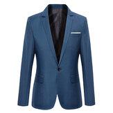 Traje Chaqueta Entallada Delgada de Moda Casual para Hombres Abrigo Blazers 7 Colores