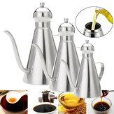 0.35L/0.5L/1L Stainless Steel Olive Oil Vinegar Dispenser Jar Kitchen Bottles Pot