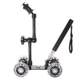 Rail Rolling Track Slider Skater Dolly Car For DSLR Camera Camcorder with Selfie Stick Magic Arm