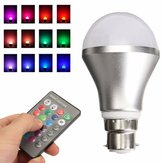 Color RGB regulable que cambia 4W B22 luz LED Bayoneta de bombilla con regulador IR Control remoto