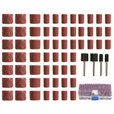 100pcs 60/120/320 Grit Drum Sanding Kit Fit Dremel Rotary Tools with 1/2 1/4 Inch Sanding Mandrels