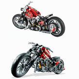 Decool 3354 Эксплуатация Скорость Гонки мотоцикл С Коробка Строительные Блоки Игрушки Модель 374 шт. Кирпичи