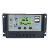Original 12V/24V Auto Solar Controller 10A-60A 3-stage PWM Solar Charge Controller Battery Regulator Dual USB LCD Display
