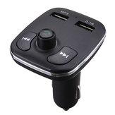 Transmetteur FM Bluetooth voiture lecteur MP3 allume-cigare voiture Bluetooth mains libres téléphone double voiture USB