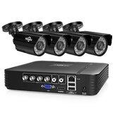 Original Hiseeu4CH1080PAHDSeguridadCámara DVR CCTV Cámara Kit de sistema Impermeable Sistema de video vigilancia