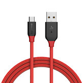 BlitzWolf® Ampcore BW-MC4 2.4A Micro USB Braided Data Cable 3ft/0.9m for Samsung S7 Redmi Note 5