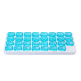 One Month Pill Organiser Box Lid Medicine Tablet Storage Dispenser Case 31 Days Travel
