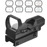AURKTECH Hunting HD101 Tactical 1X22mm Airsoft Green Red Dot Reflex Sight With 4 Type Reticle