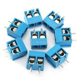 20pcs 2 Pin Plug-In Screw Terminal Block Connector 5.08mm Pitch