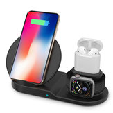10W 3 In 1 Qi Wireless Charger Earphone Charger Watch Charger For iPhone Samsung Apple AirPods Apple Watch Series