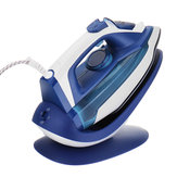 Electric Steam Iron with Charging Base 5 Level Temperature Control Overheat Protection Steam Clothes